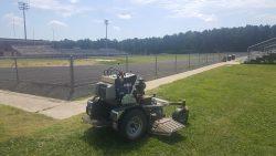 sitting lawn mower